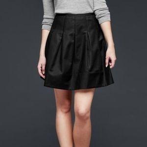 GAP Pleated Black Skirt (Cotton+Spandex)